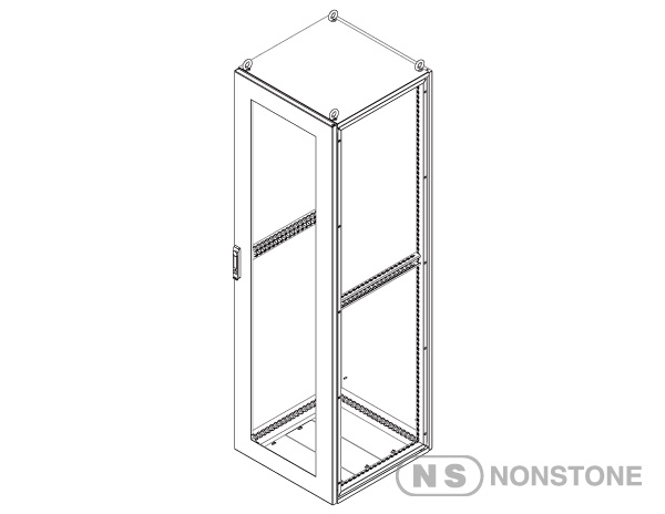 MEG Series Modular Enclosures Glass Door Package 3 Glass Door Singale Bay, IP55