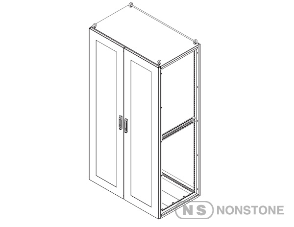 cont. MEG Series Modular Enclosures Glass Door Package 3 Glass Door Double Bay, IP55