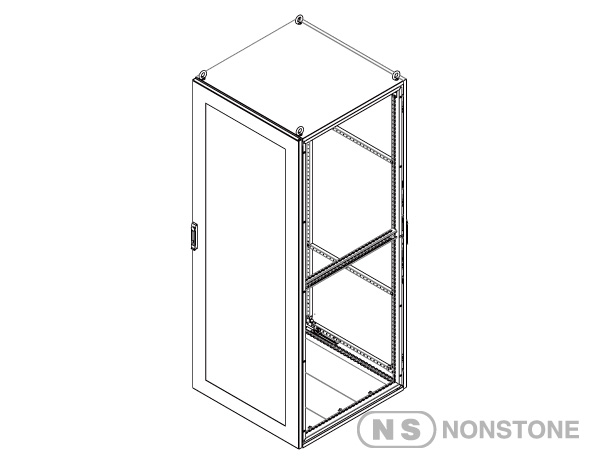 MEDG Series Modular Enclosures Package 4  Front Glass Doo with Rear Steel Door ,Singale Bay, IP55